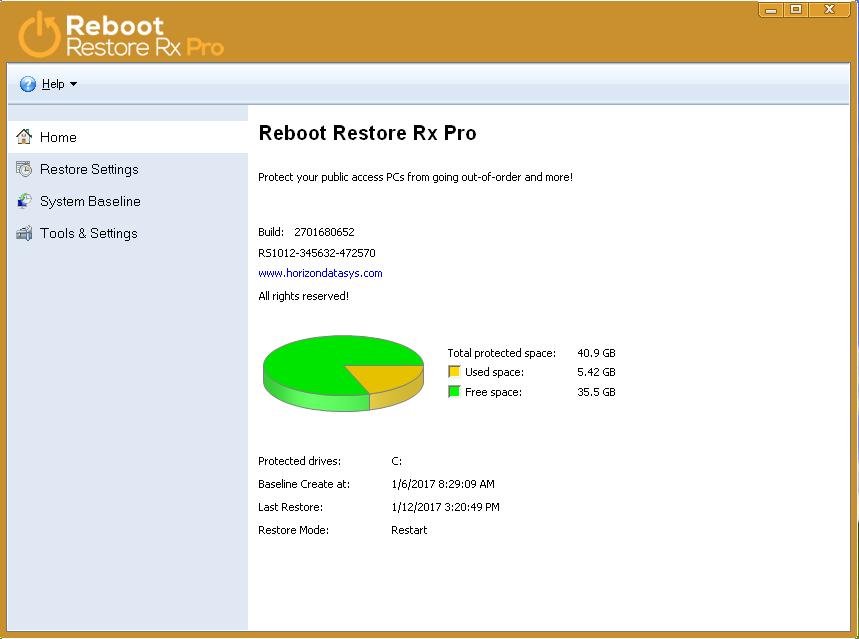 Reboot Restore Rx Professional