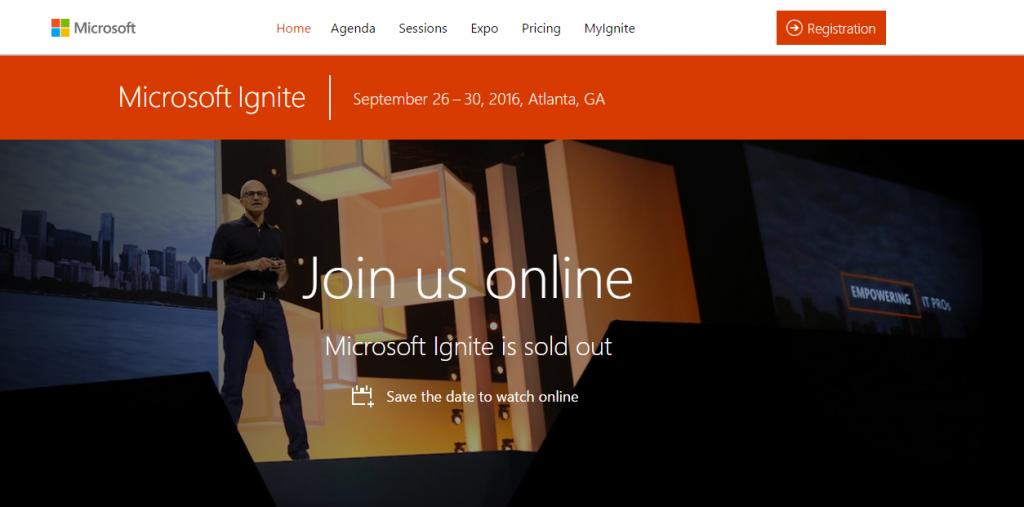 Microsoft Ignite 2016 took place in Atlanta, GA.