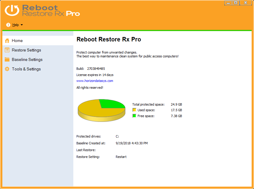 Reboot Restore Rx Pro (formerly Drive Vaccine) | Horizon DataSys