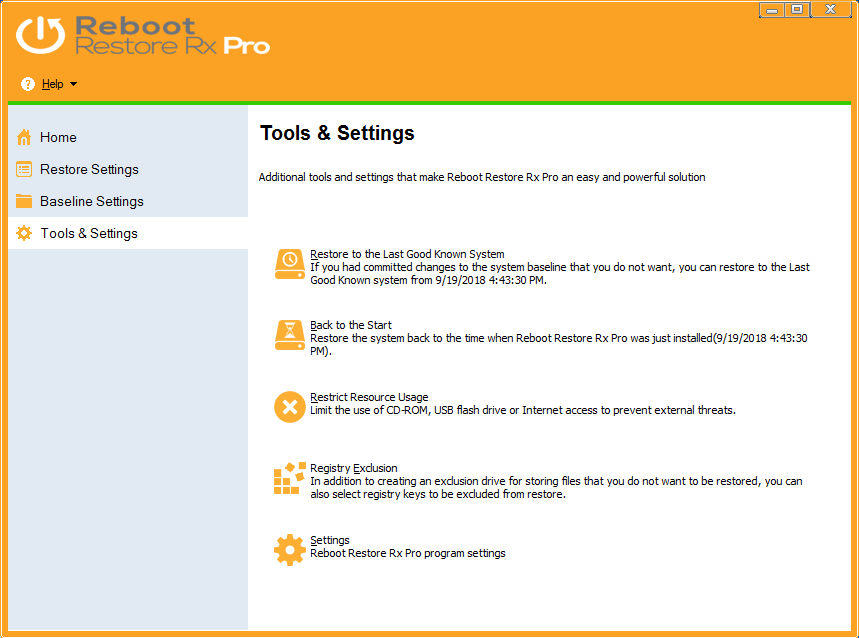 Reboot Restore Rx Pro (formerly Drive Vaccine) | Horizon