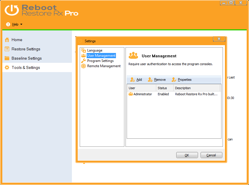 reboot restore rx pro blue screen